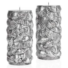 Silver Shell Candle from Z Gallerie #zgallerie