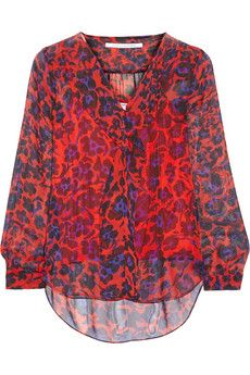 Diane von Furstenberg Reese printed silk-chiffon blouse | NET-A-PORTER @gtl_clothing #getthelook http://gtl.clothing