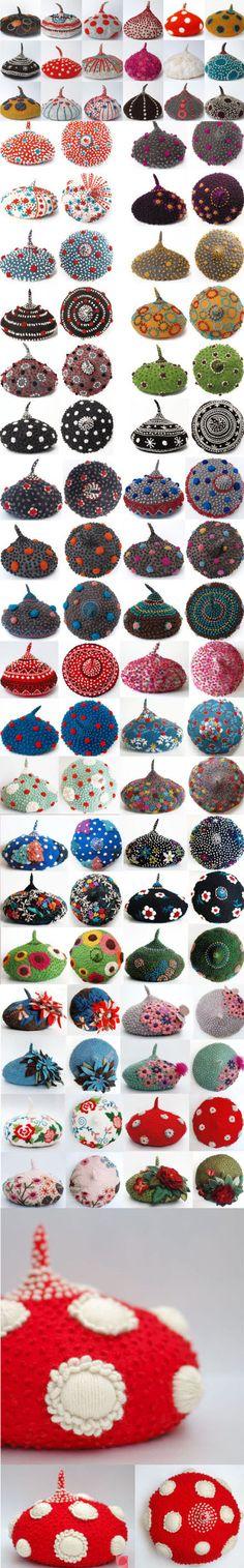 mushroom beret - shanshan - textile artist