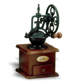 Vintage Manual Coffee Grinder Bean Grinding Machine Hand Wooden Retro Burr Mill for sale online