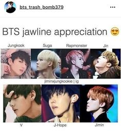 Their jaw lines are sharp enough to cut an apple XD
