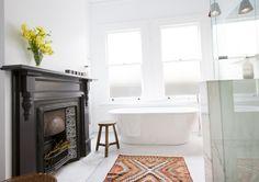 arkee creative fireplace bathroom