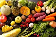 This picture shows variety because all of the vegetables and fruits are different colours, have different shapes and different textures.