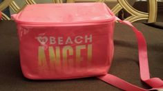 Victoria's Secret BEACH ANGEL Neon Pink Mini Cooler Lunch Box Tote NWT #WorldCup2014 #24LAD #LHHATL