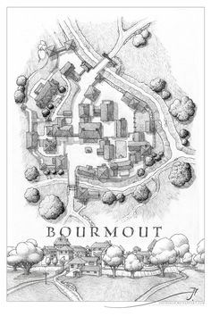 Bourmout by Sirinkman - The village of Bourmout, in the north-west of the Kingdom of Ivonest on the world of Luma - the setting for the Luthien Crabnuckel stories.