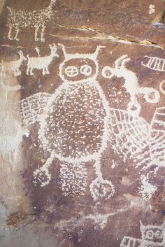 Nine Mile Canyon features some of the best rock art in the southwest, with a large number of fine petroglyph panels. One of the nicest images is this owl, which is about three feet tall.
