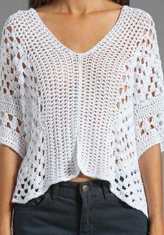 INDAH Mancora Crochet Pancho in White at Revolve Clothing - Free Shipping!