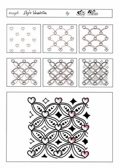 tangle pattern #zentangle