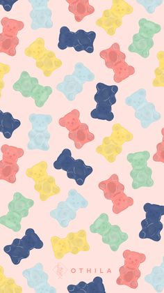 Discover recipes, home ideas, style inspiration and other ideas to try. Bear Wallpaper, Iphone Background Wallpaper, Kawaii Wallpaper, Mood Wallpaper, Screen Wallpaper, Mobile Wallpaper, Pink Wallpaper, Cute Patterns Wallpaper, Aesthetic Pastel Wallpaper
