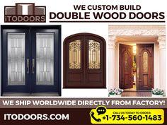 Looking for double door shop online? Find great deals on ItoDoors for double entry wooden doors at a cheap range. Double Entry Doors, Door Entry, Exterior Doors, Wooden Doors, Garage Doors, Building, Outdoor Decor, Modern, House