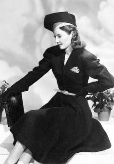 Barbara Stanwyck in a fashion portrait, 1939