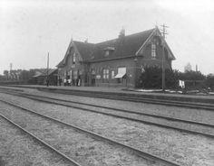 Station te Ferwert (Ferwerd), 1915.
