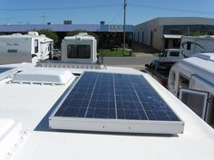 How RV Solar panels work and how to install them. RV solar panels installed on the roof of an RV. photo by Serendigity
