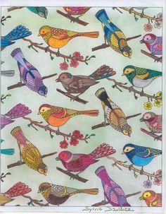 Auteur: Sylvie Dailliez - Revue: Coloriage Evasion n°13 - Éditions MEGASTAR® France. Cute Owl, Little Birds, Colouring, Owls, France, Painting, Color, Art, Animaux