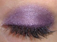 purple eyeshadow...