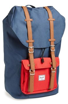 Herschel Supply Co. 'Little America' Backpack Leather Briefcase, Leather Backpack, Laptop Backpack, Duffle Bag Travel, Duffle Bags, Travel Bags, Tote Bags, Pink Mossy Oak, Under Armour Sweatshirts
