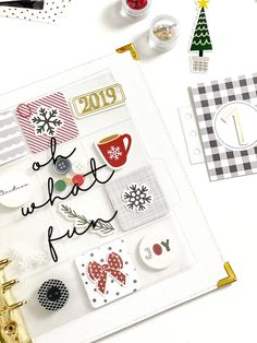 Documenting December by Danielle Menage-Jensen for Felicity Jane Christmas Journal, Christmas Gift Box, Christmas Scrapbook, December Daily, Polka Dot Paper, The Night Before Christmas, Some Cards, Xmas Cards, Happy Planner