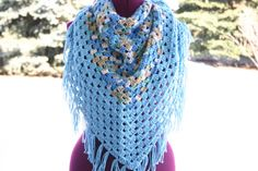 Hey, I found this really awesome Etsy listing at https://www.etsy.com/listing/181999240/beachy-triangle-crochet-scarf-shawl