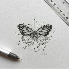 inspirational butterfly tattoo drawings, geometric tattoos, butterfly tattoo ideas for inspiration A Trendy Tattoos, New Tattoos, Body Art Tattoos, Tatoos, Xoil Tattoos, Maori Tattoos, Forearm Tattoos, Kunst Tattoos, Tattoo Drawings