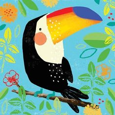 #doodleaday number 5 #doodle #dailydoodle #toucan #2can #bird #jungle #pattern #leaves #alexwillmore