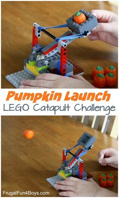 How to Build a Catapult with LEGO Bricks Pumpkin Launch! How to Build a Catapult with LEGO Bricks - fun STEM activity for fallPumpkin Launch! How to Build a Catapult with LEGO Bricks - fun STEM activity for fall Lego Projects, Projects For Kids, Crafts For Kids, Lego Club, Stem Activities, Activities For Kids, Lego Pumpkin, Pumpkin Pumpkin, Lego Challenge