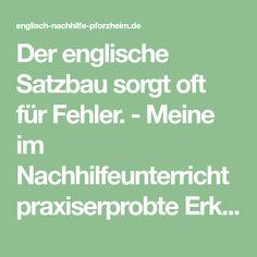 Sorgen FГјr Englisch