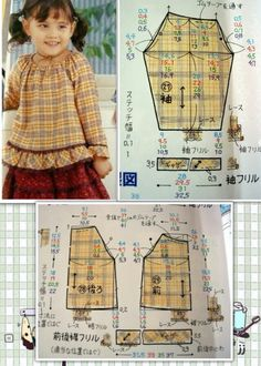 Toddler Sewing Patterns, Kids Dress Patterns, Sewing For Kids, Baby Sewing, Clothing Patterns, Baby Outfits, Baby Girl Dresses, Kids Outfits, American Girl Outfits