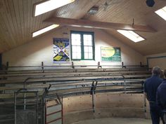 A picture from a livestock auction house in rural Lancashire. The owner needed a means keeping his customers warm and hopefully encouraging them to part with their money. The solution was to carefully position a number of BN Thermic shortwave halogen heaters providing comfort to the customers without the high cost of heating the air in the building.