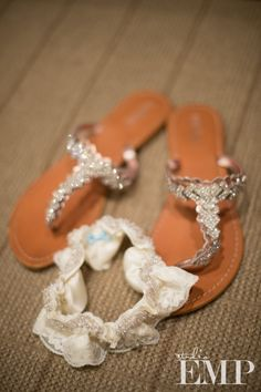 Wedding Sandals...I'll with into these after wearing my pink heels ;) See other pin to get the reference.