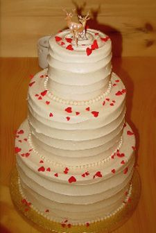 this is pretty similar to my cake idea as far as the frosting.  not so much the hearts, pearls or reindeer    @Erin Boldt