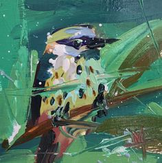 Kingfisher no. 30 Original Oil Painting by Angela Moulton pre-order