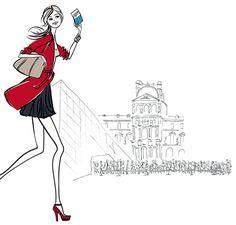 illustration, mode, Paris /dorothea renault illustration