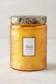 Baltic Amber Voluspa Cut Glass Jar Candle, my favorite candle ever! Glass Vessel, Glass Jars, Candle Jars, Etched Glass, Candle Holders, Faceted Glass, Glass Candle, Voluspa Candles, Scented Candles
