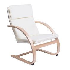 This chair virtually calls out to passers-by to come and relax White Accent Chair, Accent Chairs, Outdoor Chairs, Outdoor Furniture, Outdoor Decor, Furniture Chairs, White Armchair, Scandinavian Home, White Furniture