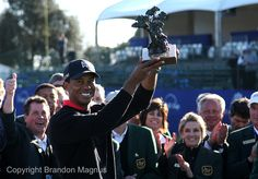 Tiger wins the 2013 Farmers Insurance Open, giving him 75 career PGA TOUR victories.