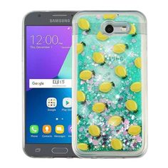 Insten / Yellow Lemon Hard Snap-on Glitter Case Cover For Samsung Galaxy Express Prime 2/ J3