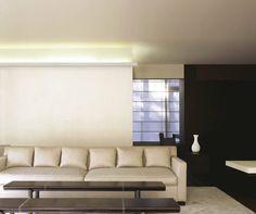 UK's largest range of uplighting coving, cornice & mouldings for use with LED rope lighting or tube lighting. Cove Lighting, Indirect Lighting, Modern Lighting, Lighting Design, Ceiling Coving, Wall Panel Molding, Cornice Design, Orac Decor, Dado Rail