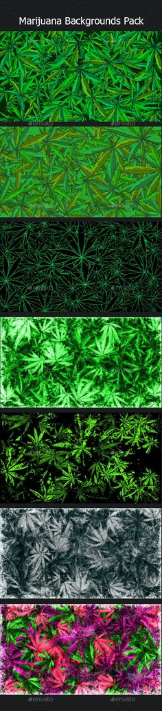 Marijuana Backgrounds Pack by techphocus | GraphicRiver
