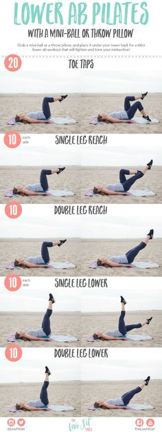 Lower Ab Pilates %7Bwith a Mini-Ball%7D and How I Fuel My Workouts!