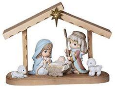 Precious Moments Hallmark Exclusive Come Let Us Adore Him 6 Piece Nativity Set