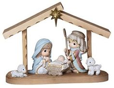Precious Moments Hallmark Exclusive Come Let Us Adore Him 6 Piece Nativity Set