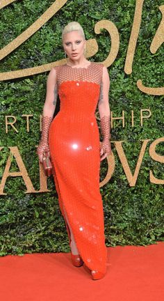 Lady Gaga in Tom Ford at the 2015 British Fashion Awards.