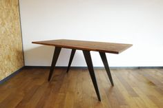 Teak and Steel Table by Matiere on Etsy, €400.00