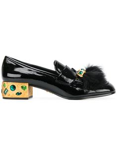 Shop designer loafers for women at Farfetch and find Gucci, Tod's and Bally – both classic and contemporary. Black Loafer Shoes, Black Shoes, Shoes Heels, Embellished Shoes, Decorated Shoes, Tassel Loafers, Oxfords, Prada Shoes, Loafers For Women