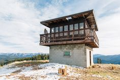 You can sleep here. Garnet Mountain Fire Lookout Tower