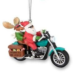 Biker Santa Resin Ornament A jolly addition to your Harley tree! Stop in  and check it out while supplies last! St. Croix Harley Davidson 2060 Hwy