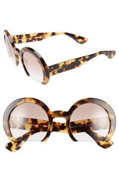 Miu Miu 52mm Flat Bottom Sunglasses | Nordstrom