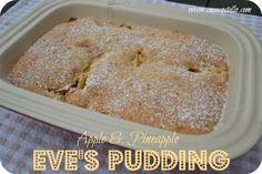 Apple & pineapple Eve's pudding cake from @CasaCostello for #TheSpiceTrail