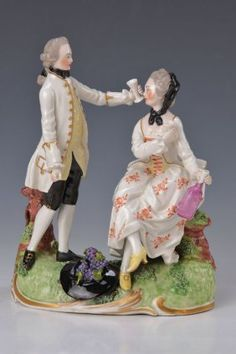 Porcelain Figurine, Frankenthal, 1765, Seasons