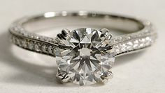 Engagement ring by Blue Nile #weddings